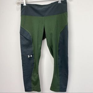 Under Armour grey and army green cropped leggings